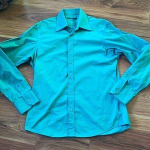 Gucci teal dress shirt